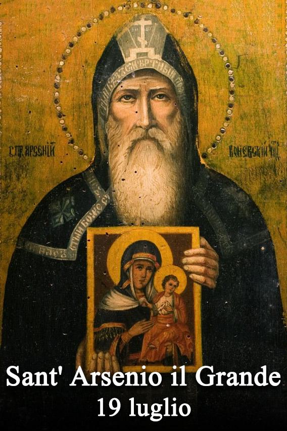 Risultati immagini per 19 giugno sant'arsenio il grande