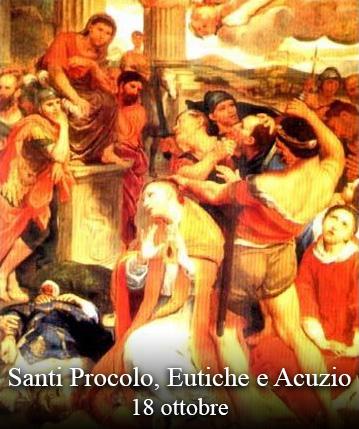 sveti Prokul, Evticij in Akucij - diakon, mučenci