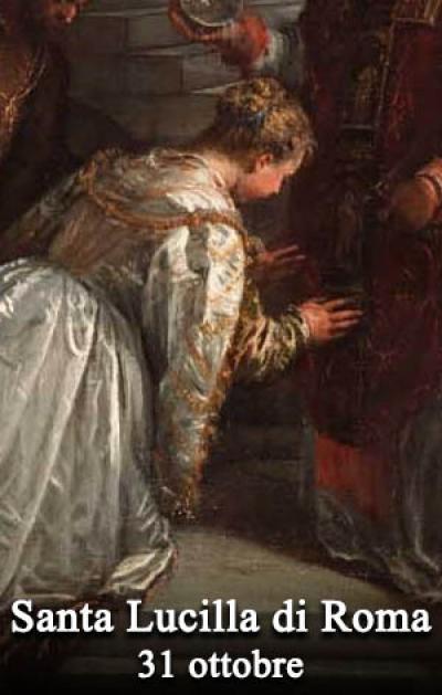Risultati immagini per 31 ottobre santa lucilla