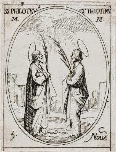 sveti Teotim, Filotej, Timotej in Auksencij - mučenci