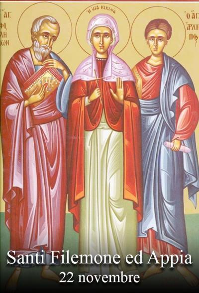 sveta Filemon in Affija - zakonca in mučenca