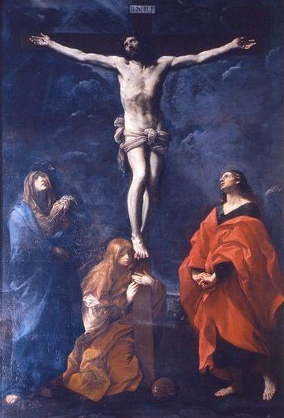 Gesù Cristo Crocifisso, la Vergine Addolorata, Santa Maria Maddalena e San Giovanni