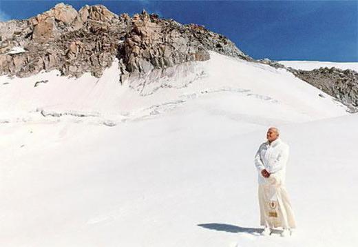 San Giovanni Paolo II sciatore