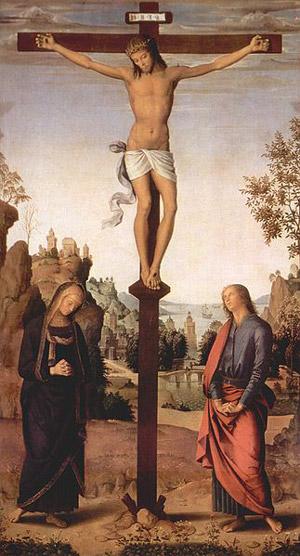 Dodicesima Stazione Gesù in croce, la madre e il discepolo