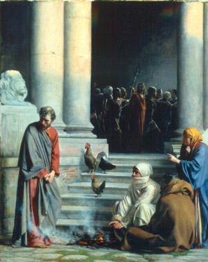 Quarta Stazione Gesù rinnegato da Pietro